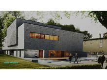 White arkitekters förslag på nytt krematorium