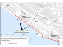 Katajanokan maasähköjärjestemän sähkökaapelitöiden reittisuunnitelma