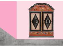 Skiss på miljö i kommande utställningen Rejält retro på Nordiska museet, montage: Karolina Kristensson, foto: Peter Segermark, Nordiska museet