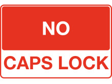 No Caps Lock