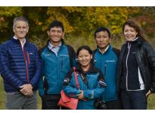 """Sherpas från städprojektet """"Saving Mount Everest"""" på besök I Ur och Skur-skola"""