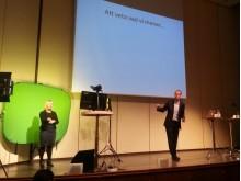 Bild från seminarium om användbarhet i IT-miljöer. Mattias Lundberg föreläser #it #psykologi