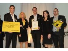 Stolta vinnare av Tillväxtpriset 2012