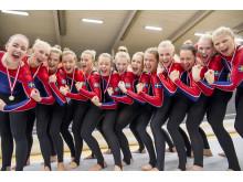 Örebros damlag tog NM-silver i truppgymnastik 2013