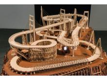 Carlos Garaicoa. Entr'acte (après René Clair), 2014. Installation view at CA2M, Madrid, Spain.