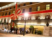 Huvudentré - Julrosett runt Clarion Hotel Post