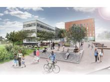 Visionsbild för Akademiplatsen i Borås