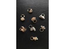 Ringar utförda av silversmeden Claës E. Giertta
