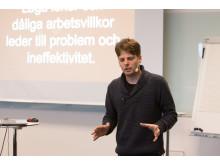 Hållbarhet och entreprenörskap fokus under Björns föreläsning