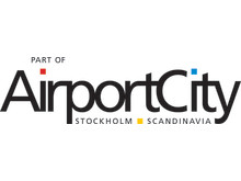 "Airport City Stockholms ""Part of Airport City Stockholm"" logotyp"