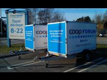Täckta trailers hos Coop Forum i Borås!