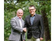 Berth Nordin t.v. efterträds av Niclas Bohlin t.h. – Miele Professional