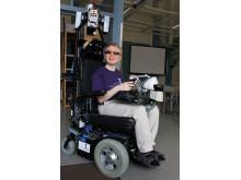 Lyckad första provkörning av seende rullstol