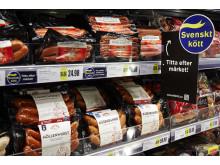 Kampanj i butik för märket Svenskt kött