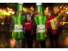 Levande ölflaskor från ActionAid gjorde succé på kvartersfest