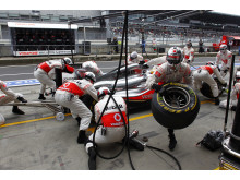 Pit stop for McLaren at the German GP 2011