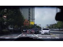 Hyundai Genesis HUD med Augmented Reality