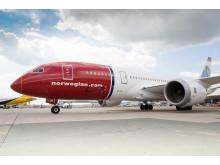 Norwegians Dreamliner på London Gatwick