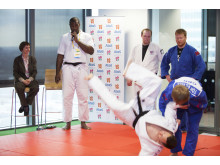 Teddy Riner and Michele Hyron at the Judo