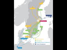 Malmö Aviations Linjenät 2012