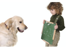 Låt hunden göra barnens läxor!