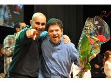 Del av gruppen APPC som vann European Song Festival med låten Mundo de contradições