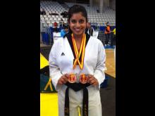 Nina Bansal vant to bronsemedaljer i det åpne Spanske mesterskapet