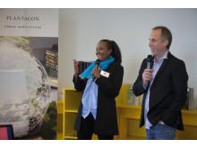 Bild från pressmöte 18 april 2012: Plantagon och MFI inleder samarbete