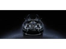 V8-motor med 477 hästkrafter