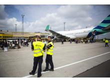 Pullmantur kryssninsgtrafik på Malmö Airåprt