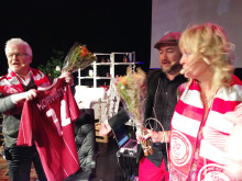 HuFF-galan 2014 avtackning Hasse Backe Pamela Andersson Alselind