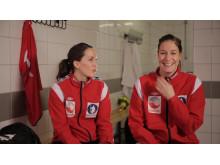 Håndballjentene Maja Jakobsen og Betina Riegelhut
