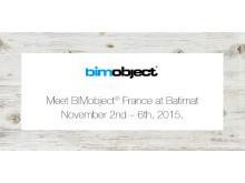 Möt BIMobject på Batimat 2015