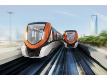 Tåg till Riyadhs tunnelbana linje 3