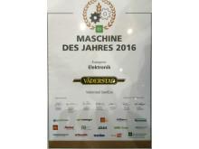 """Väderstad vinner det prestigefyllda priset """"Machine of the Year 2015"""""""
