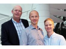 Fra venstre: Hans Torp, Audun Aspevoll og Fredrik Larsen