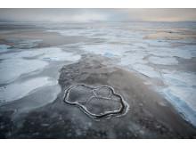Havsis sett från isbrytaren Oden. Foto: Björn Eriksson