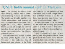 QNET Holds Annual Conf in Malaysia