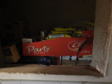 Op Batmobile - illicit tobacco products hidden in wall behind cupboard NW04/15