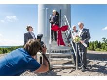 Invigning av vindkraftspark i halländska Knäred