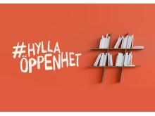 #hyllaöppenhet bokhylla + logo FRI ANVÄNDNING