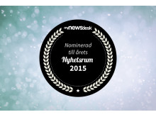 Nominering till Årets Nyhetsrum 2015
