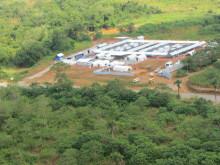 Behandlingscenter i Kenema från luften