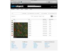 Filippa fabrics and textiles from Uddebo Weaveri - screenshot from BIMobject Portal