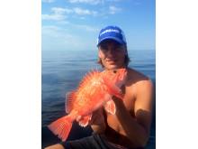 Nytt svenskt sportfiskerekord på arten blåkäft