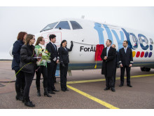 Åland's plane naming competition celebration - winner comes from Bromma, Stockholm
