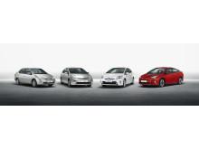 Förbrukning och utsläpp rekordlåga för nya Toyota Prius