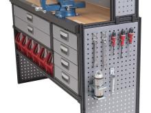 Modul-System, arbetsbänkar, verktygsplåtar och hurtsar