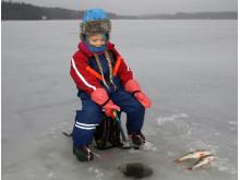 Isfiske för barn med Klassdraget