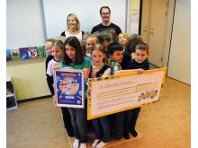 Klass 3A från Månsaboskolan i Svalöv tog hem förstapriset i Pantresan 2012.